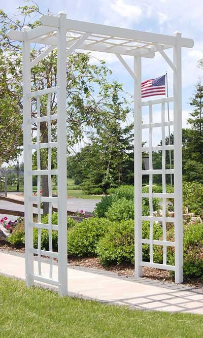 "Elmwood Arbor, White, 85""H"