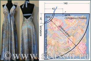 Клуб любителей шитья Сезон - сайт, где Вы можете узнать все о шитье - Платья из платков