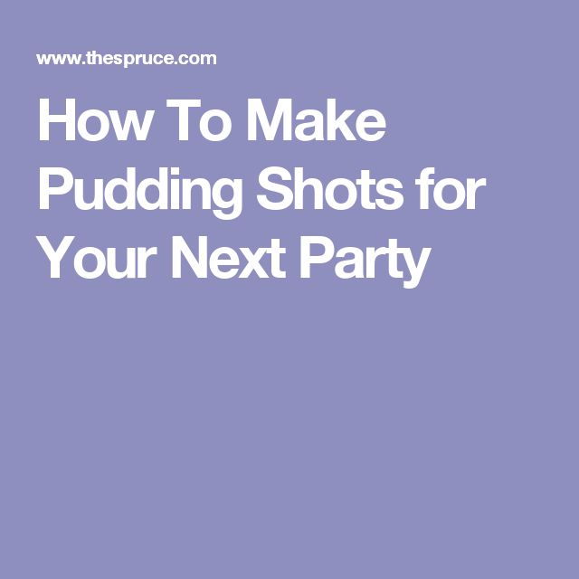 How To Make Pudding Shots for Your Next Party