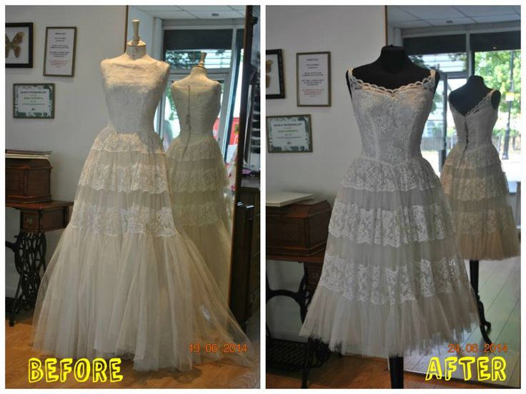 Evening dress alterations and dyeing