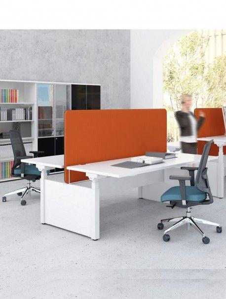 Mélangez le travail assis debout avec les bureaux open space, assaisonnez avec une pointe de design et vous obtenez ce magnifique bureau 2 postes réglable en hauteur électriquement DRIVE : les nouvelles méthodes de travail au bureau à portée de main