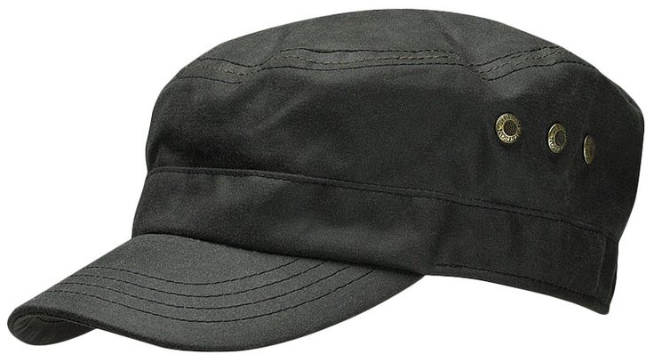 Austin Waxed Cotton Army Cap by Stetson black