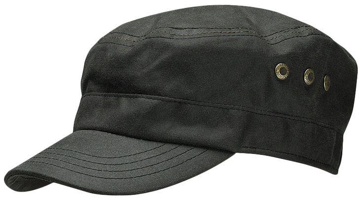 Austin Waxed Cotton Army Cap by Stetson black