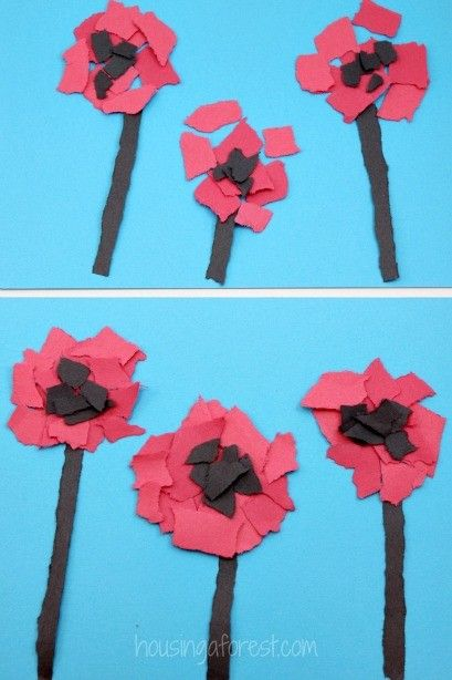 37 best remembrance day crafts images on pinterest for Veterans day poppy craft