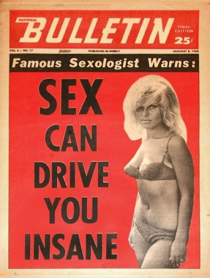 newmanology:    National Bulletin, 1968  Source: Pulp International    I can see how that could happen, LOL