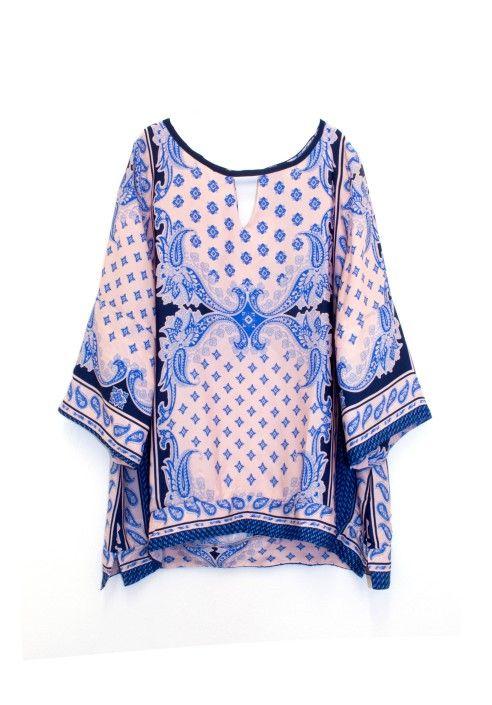 Tunique fluide imprimé cashmere ANGE ® An'ge - Becharonne - www.ange-eshop.com