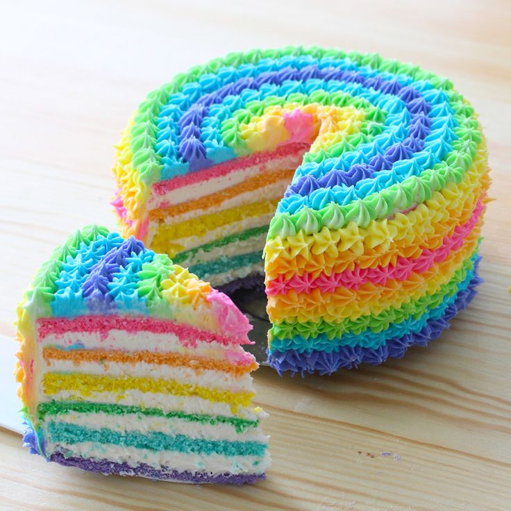 17 Best ideas about Rainbow Cakes on Pinterest  Colorful