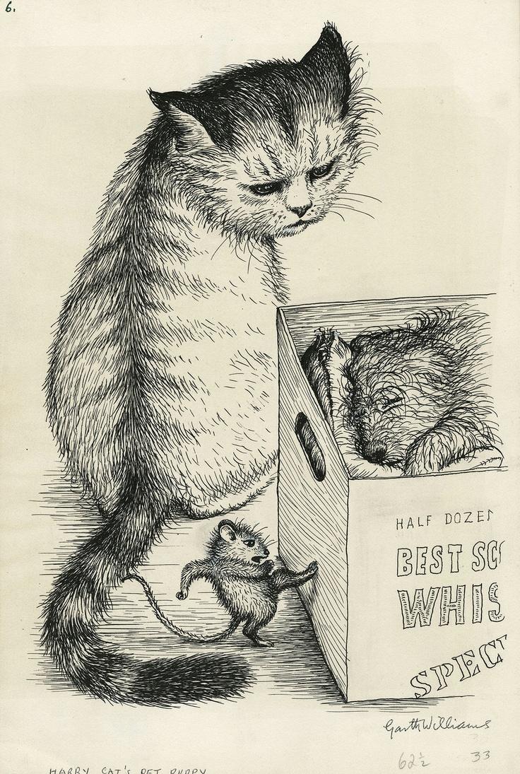 """""""Harry Cat's Pet Puppy"""" - Garth Williams"""