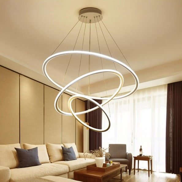 Led Ceiling Pendant Dimming Ring Light, Living Room Ceiling Lamp Shades