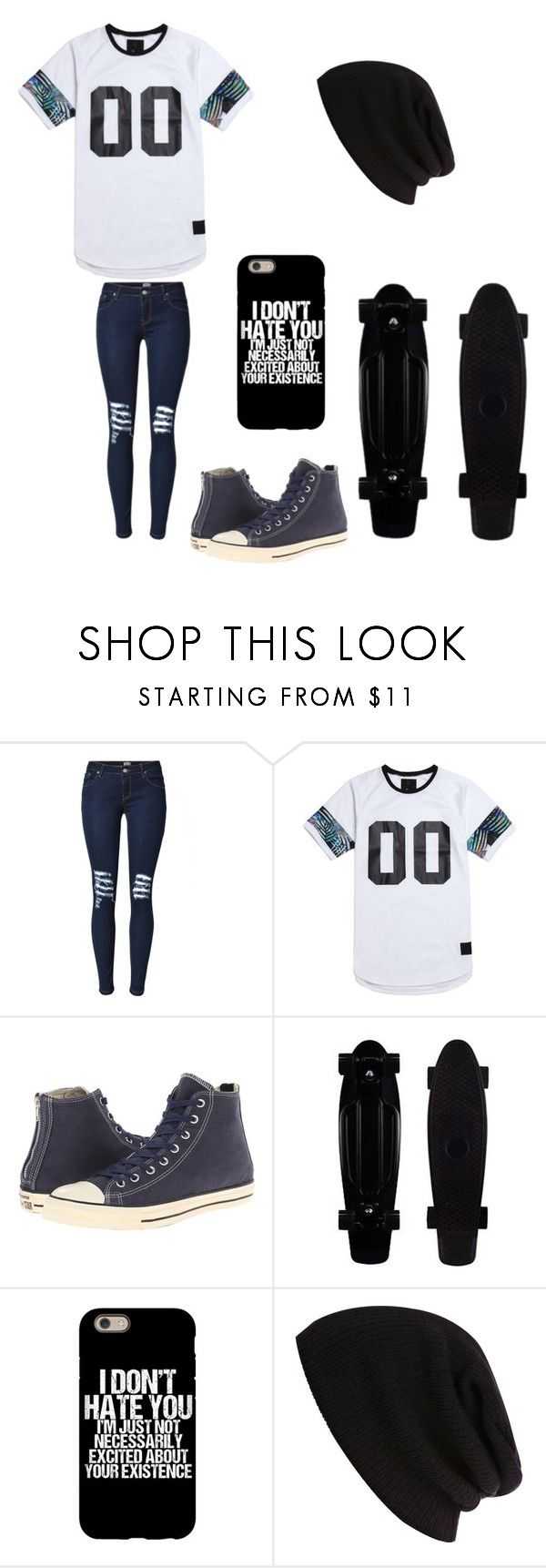 """""""Untitled #84"""" by darksoul7 on Polyvore featuring On The Byas, Converse and River Island"""