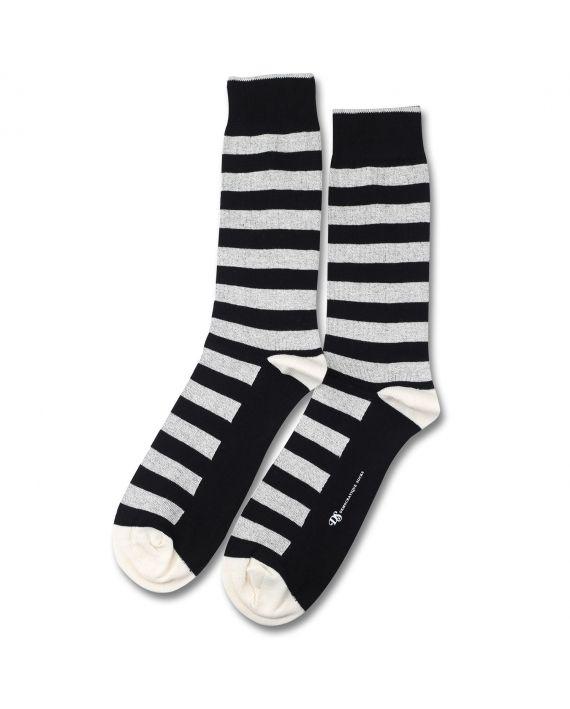 Democratique Socks ORIGINALS STRIPER Black / Off White