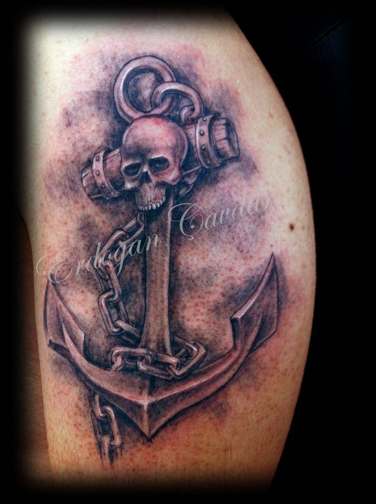 Tattoo Art | anchors tattoo by erdogancavdar traditional art body art body ...