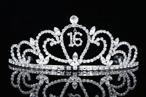 Sweet 16 Birthday Party Princess Rhinestone Crystal Tiara Crown!
