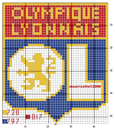 sport - football - lion - point de croix - cross stitch - Blog : http://broderiemimie44.canalblog.com/