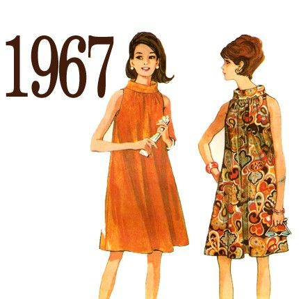 60s Adorable Trapeze Dress Vintage Sewing Pattern by ZipZapKap