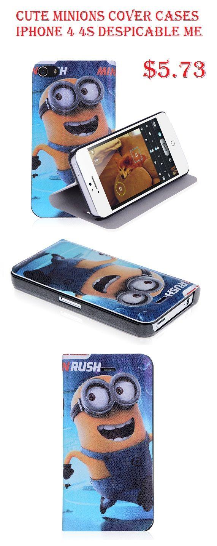 Cute Minion iPhone 4 4S Despicable Me Wallet Case Covers $5.73 #minion #iphone4 #despicableme #cases #apple #cartoon #covers #walletcase #smartphone #iphonecase $5.73