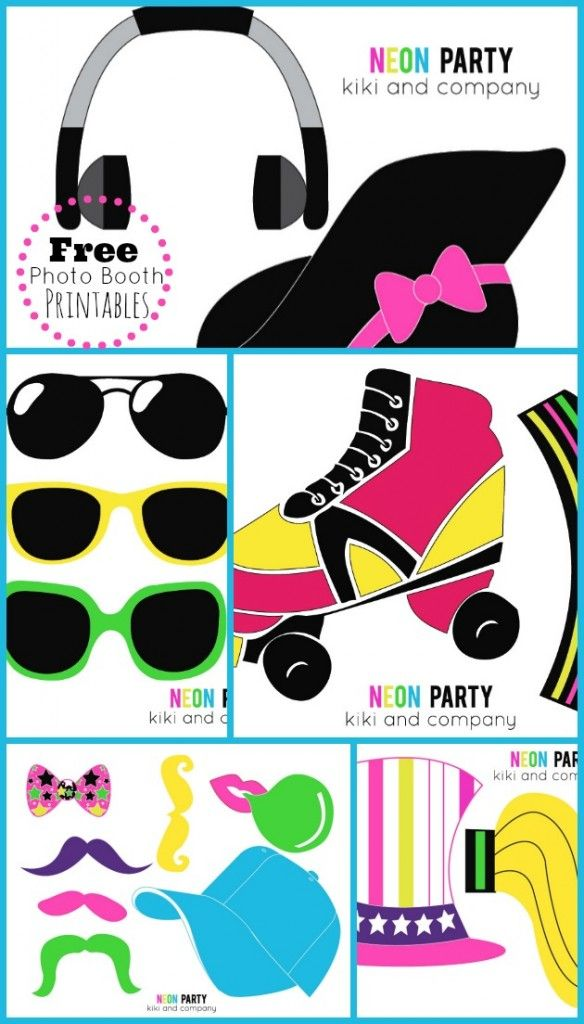 Neon Skate Birthday Party Bloggers Fun Family Projects