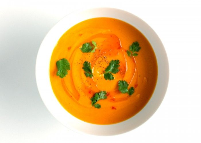 Check out Carrot-Coconut Soup. It's so easy to make ...