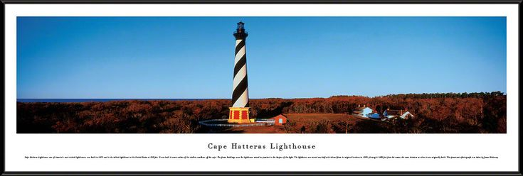cool Cape Hatteras Lighthouse Panoramic Picture  Framed   Check more at http://harmonisproduction.com/cape-hatteras-lighthouse-panoramic-picture-framed/