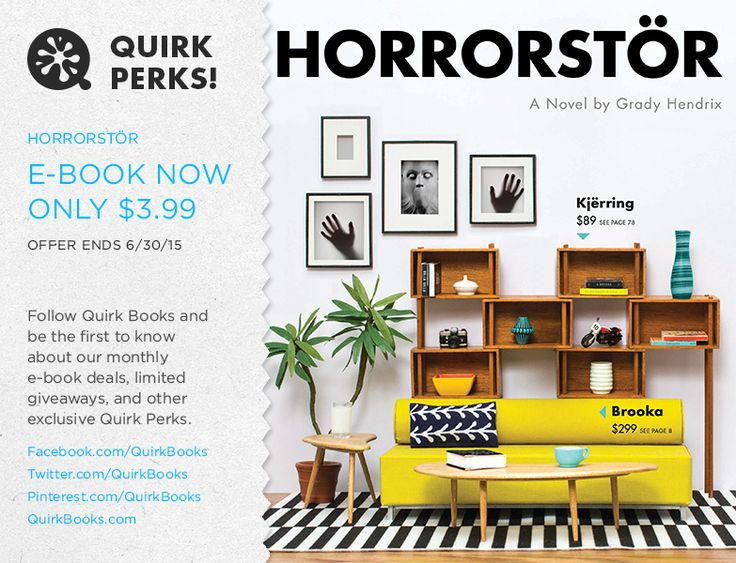 Something strange is happening at this furniture superstore!  Horrorstör for $3.99 on all devices.