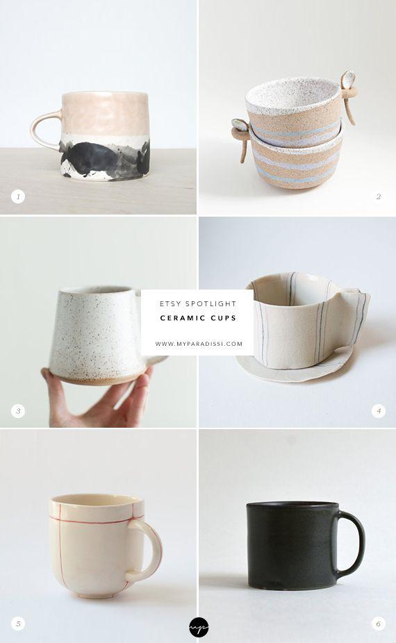 Ceramic cups on Etsy