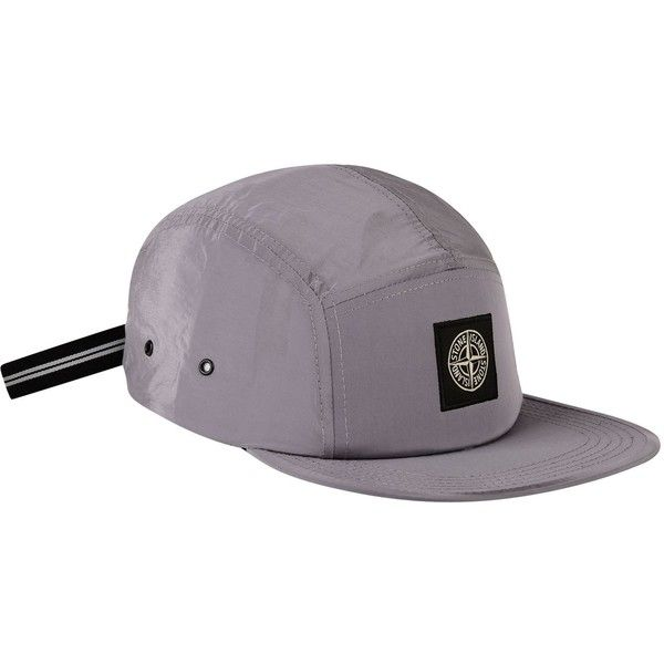 STONE ISLAND Nylon Badge Cap ($120) ❤ liked on Polyvore featuring accessories, hats, nylon hat, adjustable caps, stone island, adjustable hats and strap hats