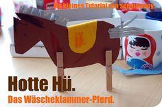 seemownay: Tutorial: Wäscheklammer-Pferd.