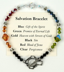 Salvation Bracelet - My daughter and I made these at a Soul Sisters meeting.  I had a good friend redo & fix mine and I love it!