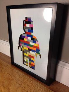 Shadow box frame of a  LEGO ® minifig by CuttingEdgeSteelwork