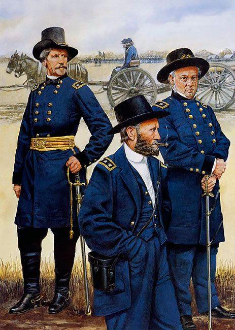 • Major-General Nathaniel Banks  • Lieutenant-General Ulysses S. Grant  • Major-General Henry Halleck
