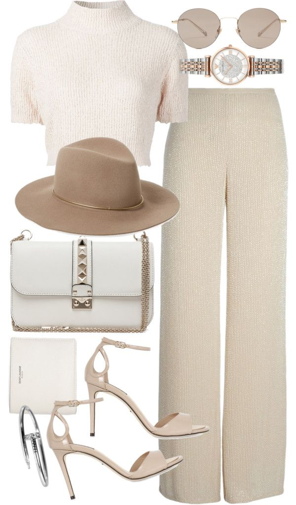 Untitled #20184 by florencia95 featuring ankle strap sandals Rachel Comey cropped sweater, 535 AUD / Armani Collezioni pink pants, 475 AUD / Dolce&Gabbana ankle strap sandals / Valentino handbags purse, 3 120 AUD / Emporio Armani stainless steel...