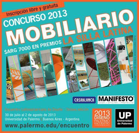 Concurso Latinoamericano de Diseño de mobiliario 'Manifesto-UP de la Universidad de Palermo
