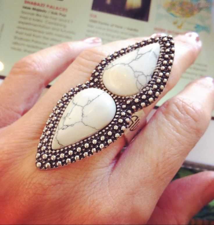 the showstopper. the white bohemian nights ring