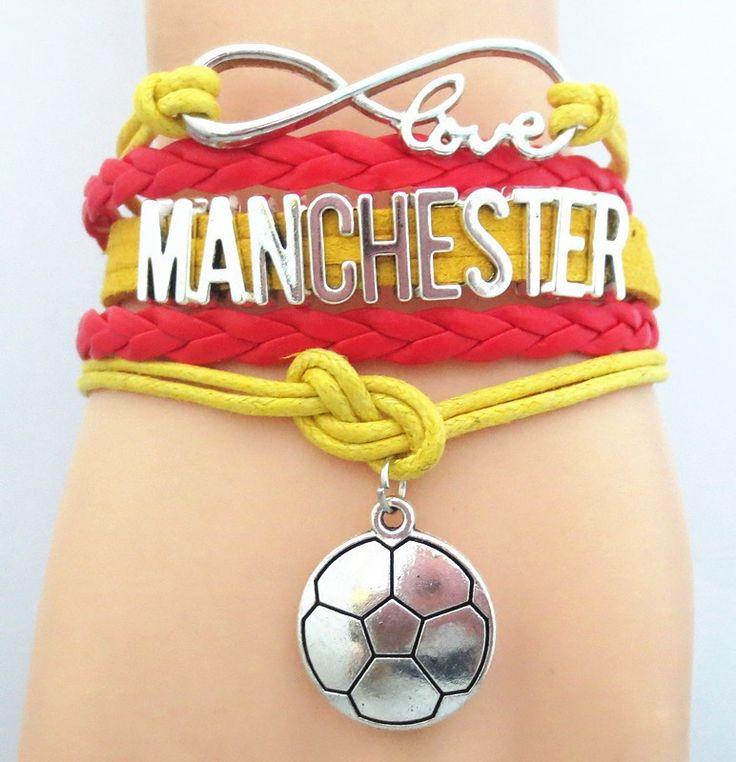 Infinity Love Manchester FC Bracelet - Manchester Football Club