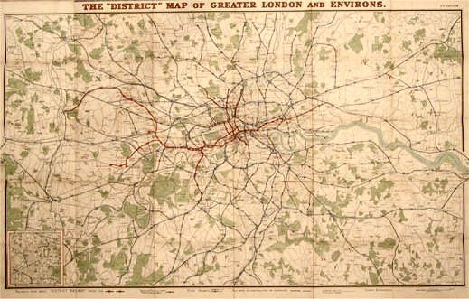 Railway Plan of London and its suburbs.