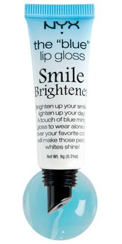 myx cosmetics blue lip gloss // smile brightener