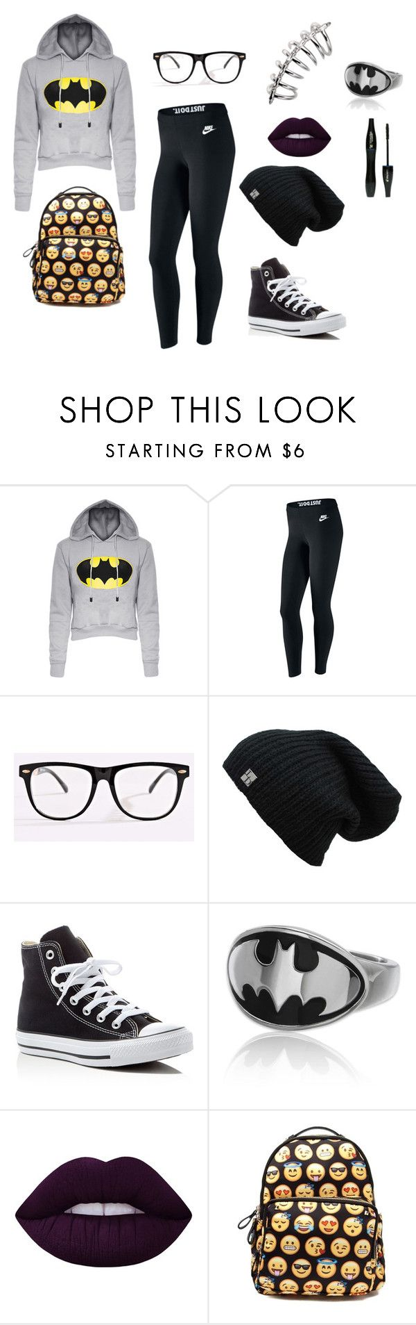 """""""""""It´s not who you are underneath, but what I do that defines me"""" -Batman"""" by draw4me on Polyvore featuring NIKE, Converse, Lancôme and Lime Crime"""