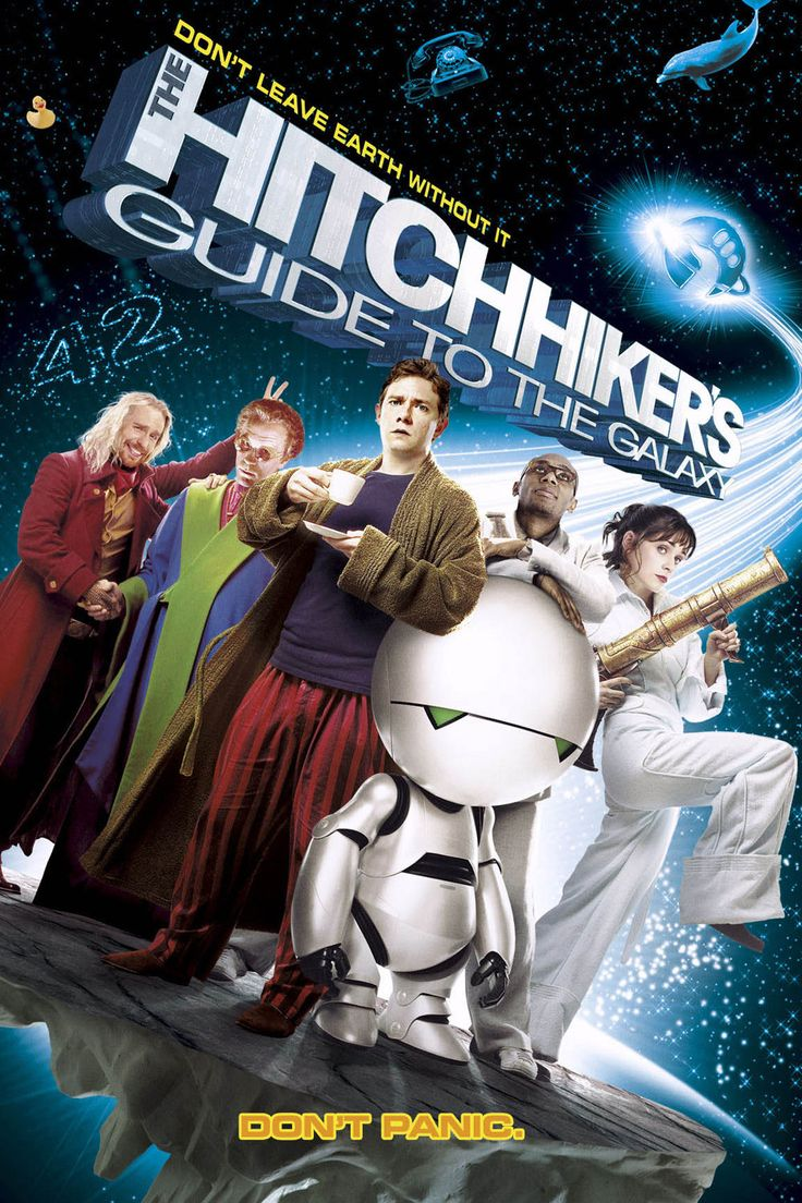 "The Hitchhikers Guide to the Galaxy (2005) - Mere seconds before the Earth is to be demolished by an alien construction crew, journeyman Arthur Dent is swept off the planet by his friend Ford Prefect, a researcher penning a new edition of ""The Hitchhiker's Guide to the Galaxy."""