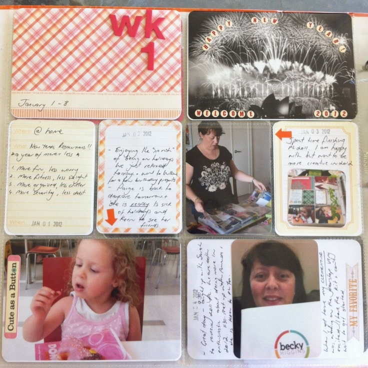 Project Life - Wk1 Left Page