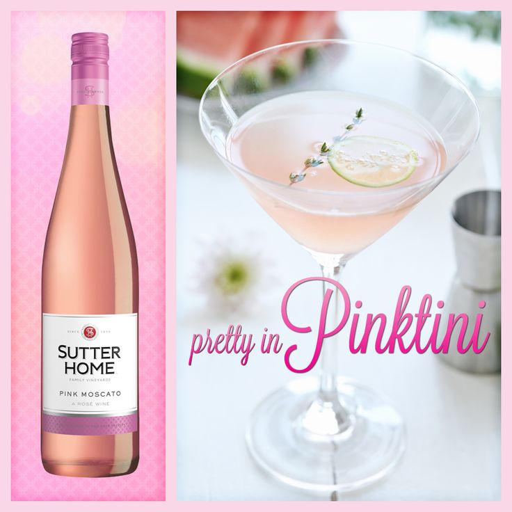 Sutter home wine cocktail pretty in pinktini sutter for Drinks with pink moscato