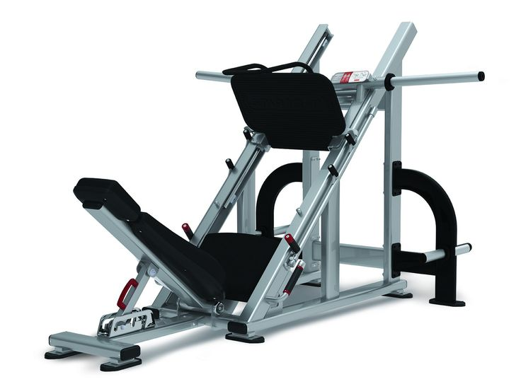 The angled Leg Press follow Nautilus' trademark combination of safety and function. Adjustable back support allows proper positioning and comfort for each user while safety stops and integrated user handles provide safety.