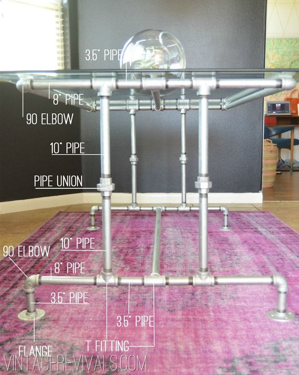 How To Build A Pipe Table Tutorial: I love the industrial pipe look.