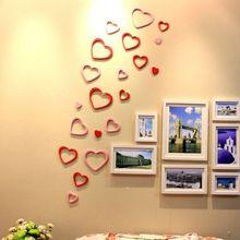 yeni oturma odası kanepe tv ayar duvar yaratıcı dekoratif duvar çıkartmaları yatak odası romantik aşk(China (Mainland))