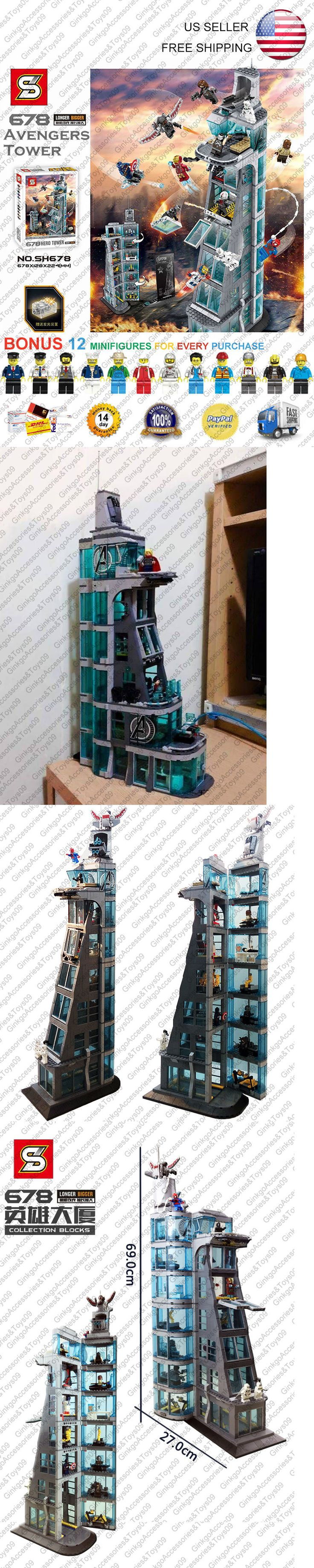 Blocks 18992: Marvel Hero Attack On Avengers Tower Sy678 76038 Building Kit Blocks 1209 Pcs -> BUY IT NOW ONLY: $76 on eBay!