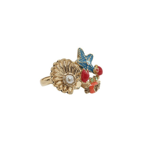 Betsey Johnson - Under The Sea - Cluster Ring (Coral Multi) - Jewelry, found on polyvore.comRings Coral, Jewellery Queens, Coral Multi, Cluster Rings, Betsey Johnson, Under Sea, The Sea