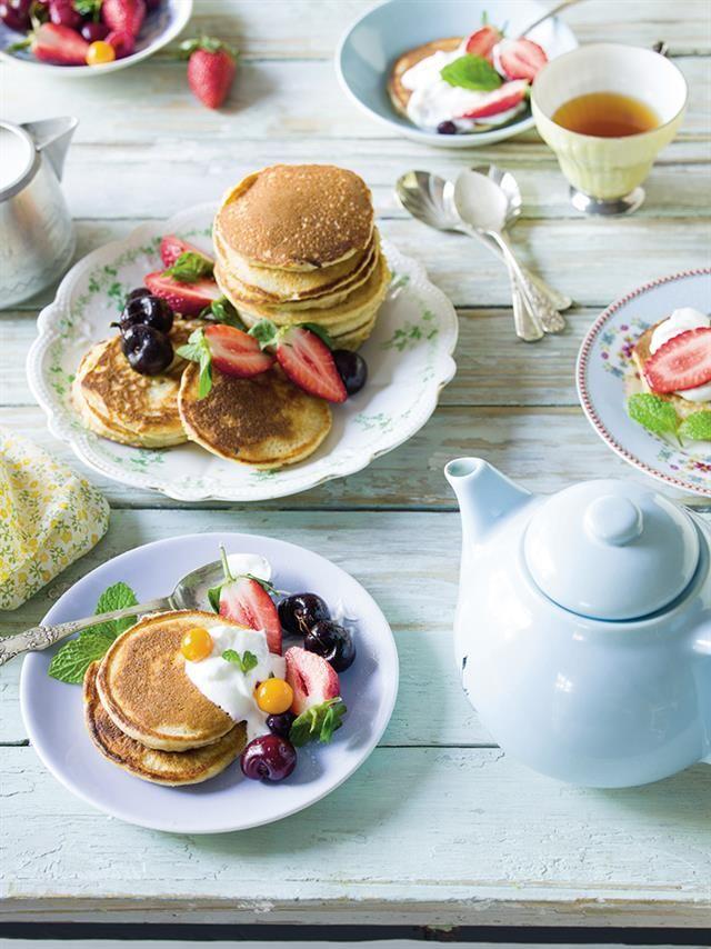 Almond and yogurt flapjacks | Amandel-en-jogurt-plaatkoekies #diabetic
