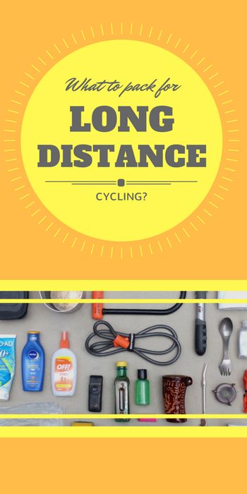 What to pack on a long-distance cycling trip? That's what many people wonder before setting off. Here is the answer in pictures and lists.