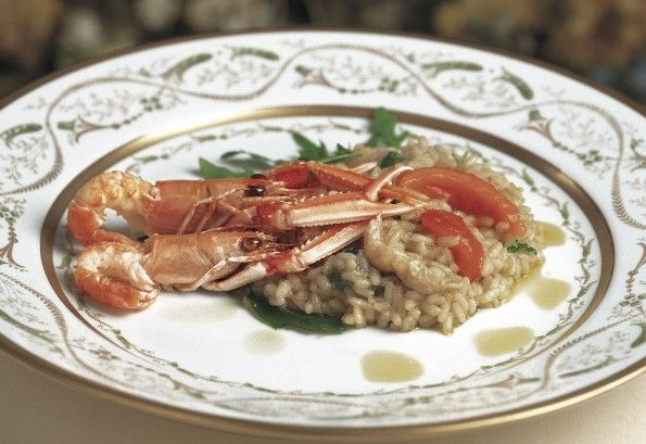 Lemon risotto with langoustines and wild rocket #glutenFree #risoGallo #risotto