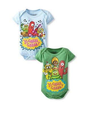 78% OFF Freeze Baby Yo Gabba Gabba Bodysuit Bundle (Light Blue/Green)