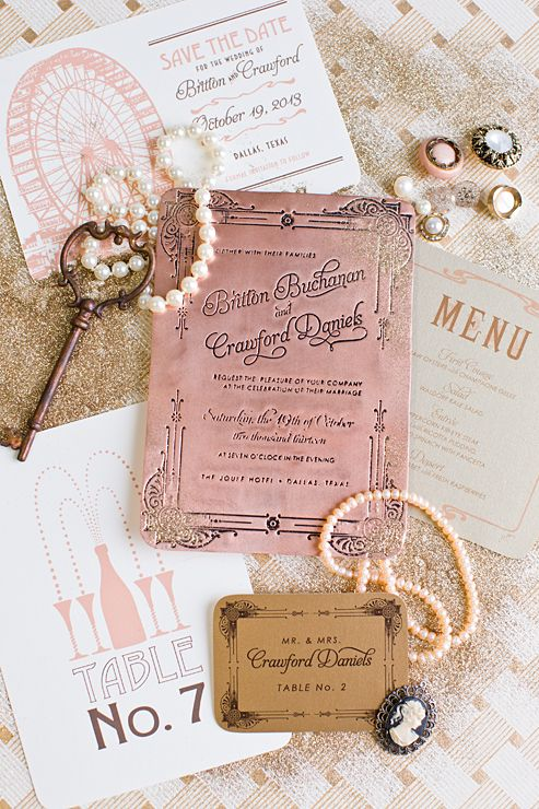 Styled Shoot Series: One Color Palette, Four Ways-ART DECO | Southern Fried Paper Blog